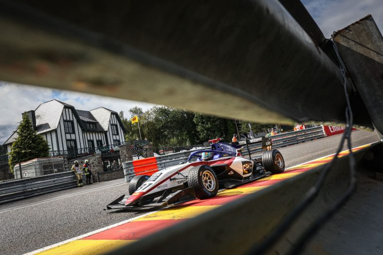 Another podium in the FIA Formula 3 forCharouz Racing Systemin a rain-soaked Round 5 at Spa-Francorchamps